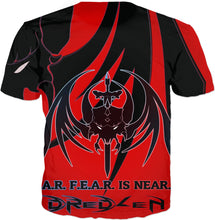 Razrwing Dredlen Collection CHOOSE YR F.E.A.R.- D R E D L E N -T -RED SHIRT Back