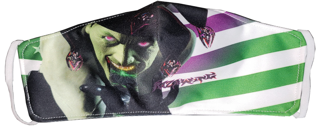 RAZRWING- JESTER GRN/W FLAG LIMITED EDITION -FACE MASK
