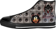 Razrwing Snatch Story Razrwing SNATCH Widow Crest Tiles Black High Tops Left Side