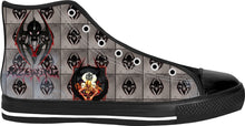 Razrwing Snatch Story Razrwing SNATCH Widow Crest Tiles Black High Tops Right Side