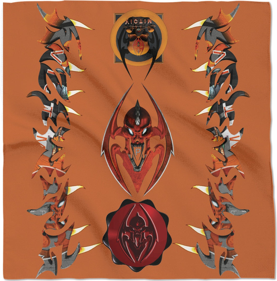 Razrwing Lettering ObsessionV FIRE Orange Bandana