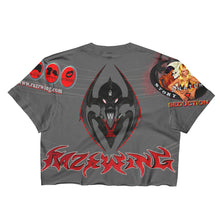 RAZRWING SNATCH:SEDUCTION STORY WIDOW CREST GREY Crop Top