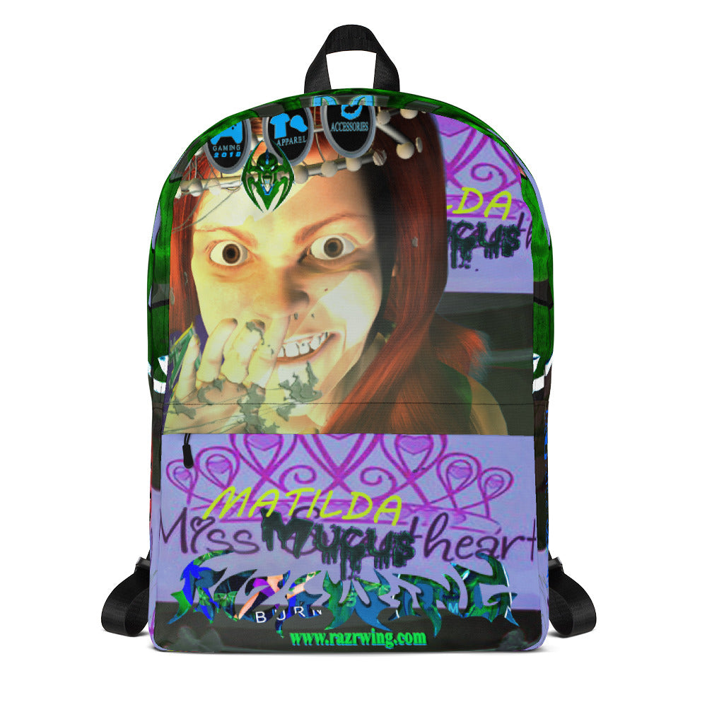 RAZRWING: MATILDA The ATTENTIVE GRL  2018 AR MR  HOLOGRAM Backpack