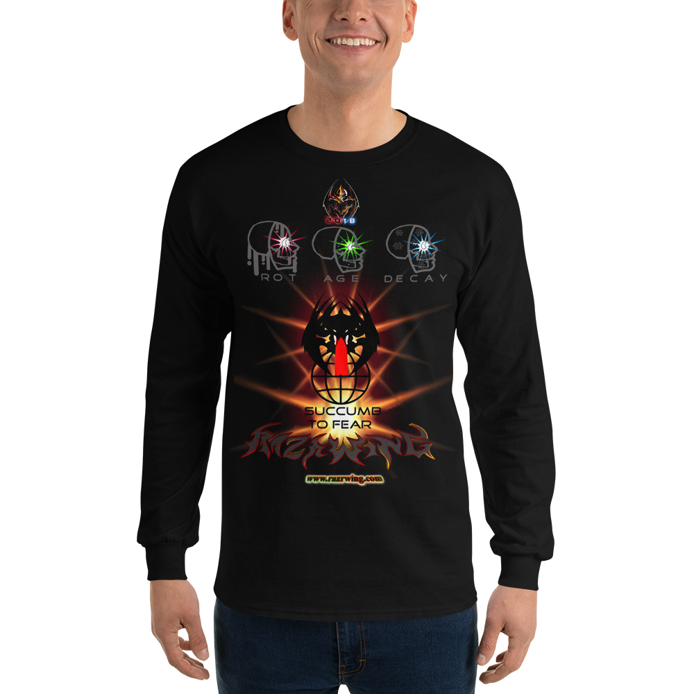 Razrwing Dark Crest Brand Collection REUNITE WHAT F.E.A.R. FEARS Long Sleeve T-Shirt Front