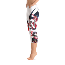 Razrwing Dark Crest BranRAZRWING Scales, Stars, and Stripes Capri Leggings Right Side Barefoot
