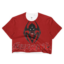 RAZRWING SNATCH:SEDUCTION STORY WIDOW CREST RED Crop Top
