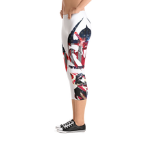 Razrwing Dark Crest Brand RAZRWING Scales, Stars, and Stripes Capri Leggings Right Side Sneakers