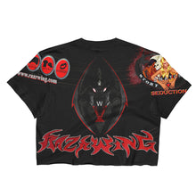 RAZRWING SNATCH:SEDUCTION STORY WIDOW CREST BLK Crop Top