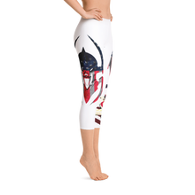 Razrwing Dark Crest Brand Collecction RAZRWING Scales, Stars, and Stripes Capri Leggings Left Side