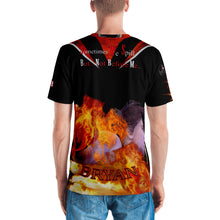 RAZRWING BRYAN MAIDEN FIRE SWORD  BLACK T SHIRT
