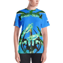 Razrwing Burn Story RAZRWING MATILDA Thorn SWORD BLUE T SHIRT Front