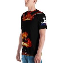 Razrwing Victim Story Collection RAZRWING BRYAN MAIDEN FIRE Black T SHIRT Left Side