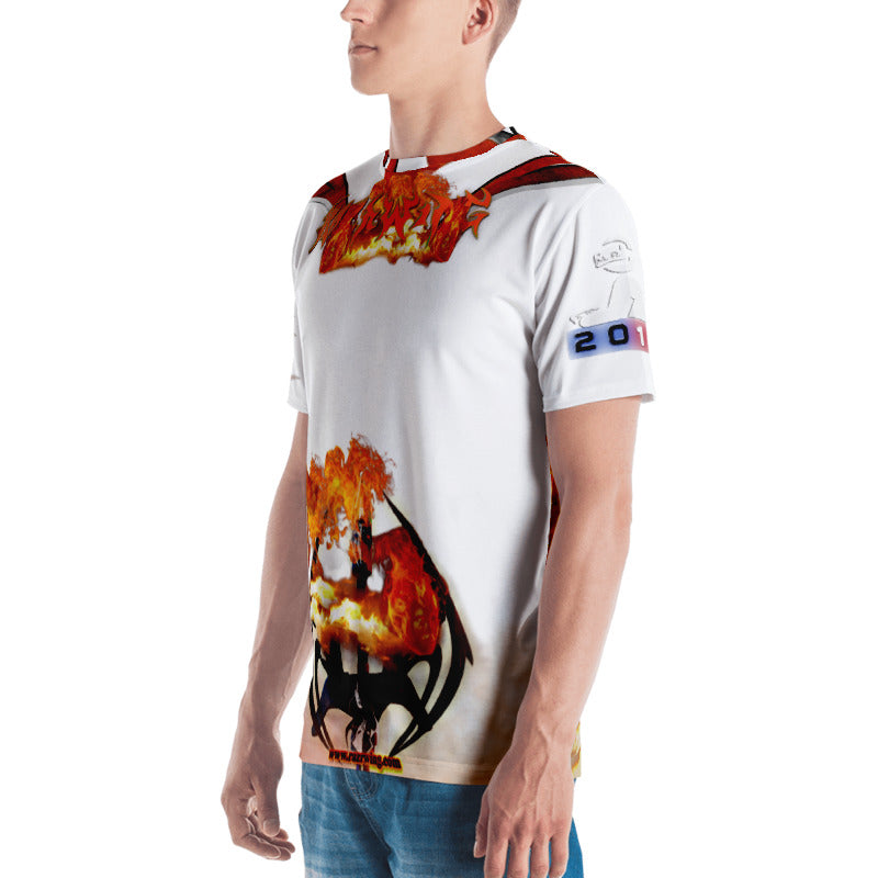 RAZRWING  BRYAN MAIDEN FIRE WHITE T SHIRT