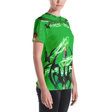 Razrwing Burn Story RAZRWING MATILDA Thorn SWORD GREEN T SHIRT Left Side