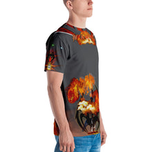 RAZRWING  BRYAN MAIDEN FIRE GREY T SHIRT
