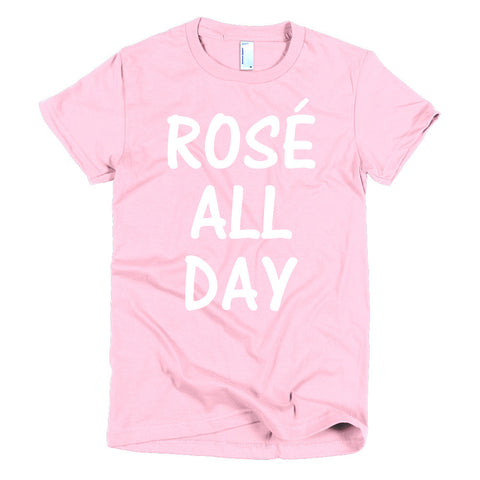 """Rose All Day"" Short sleeve women's t-shirt"