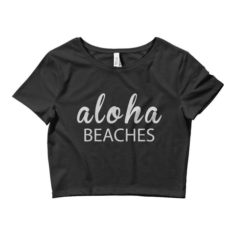 """Aloha Beaches"" Women's Crop Tee"