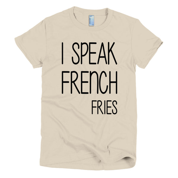 """French Fries"" Short sleeve women's t-shirt"