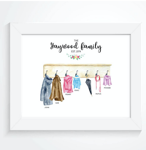 Personalised Family Coat Print Mothers Day
