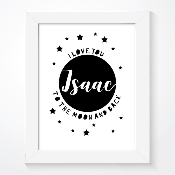 Personalised I Love You To The Moon And Back Print - Couture Moments
