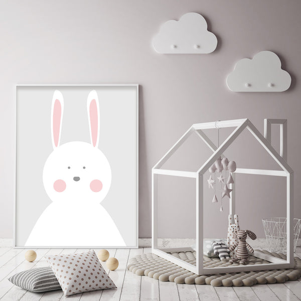 Pink Girls Rabbit Print