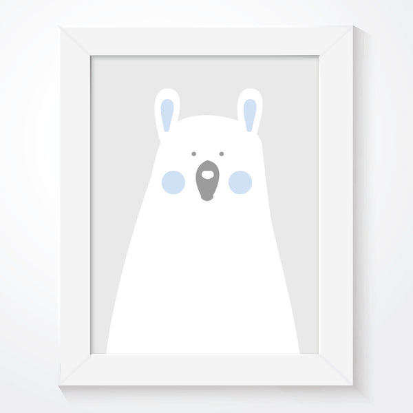 Blue Boys Bear Bedroom Print