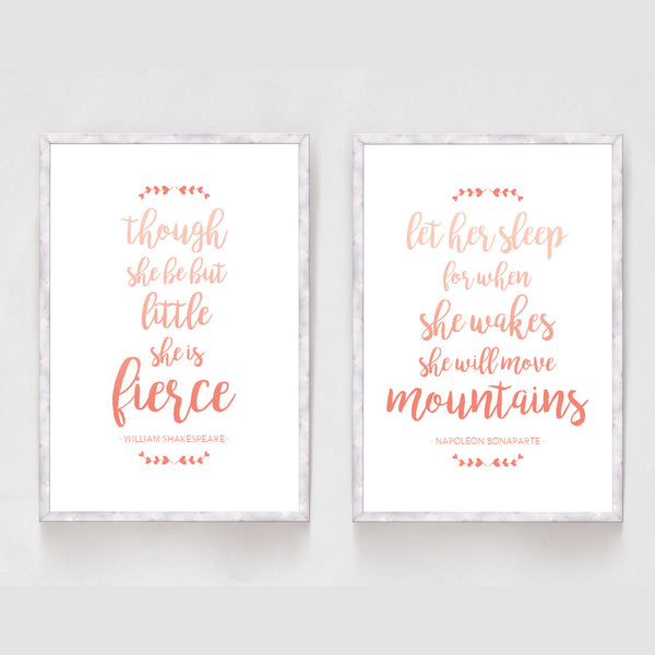 Set of 2 Inspirational Girls Quote Prints