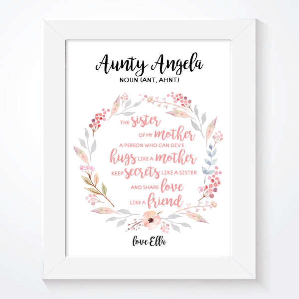 Personalised Aunty Print