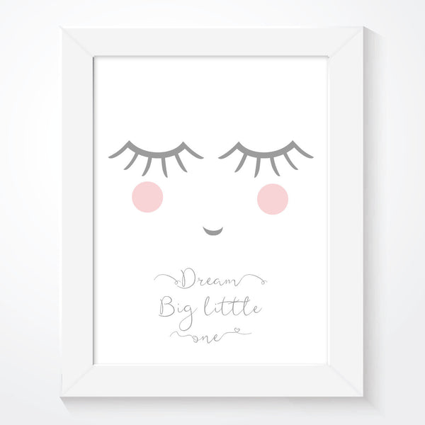 Sleepy Lashes Girls Dream Big Print