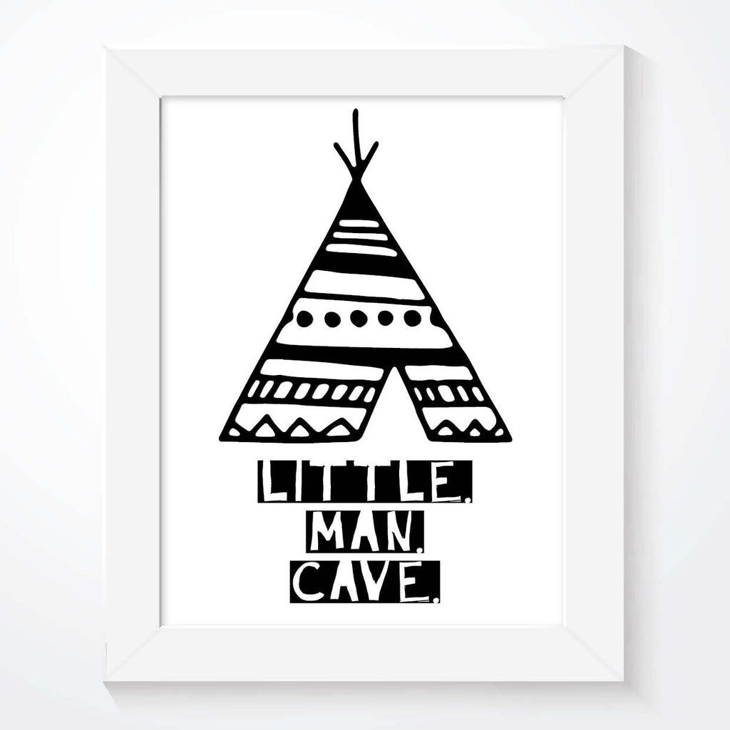 Little Man Cave Teepee Print - Couture Moments