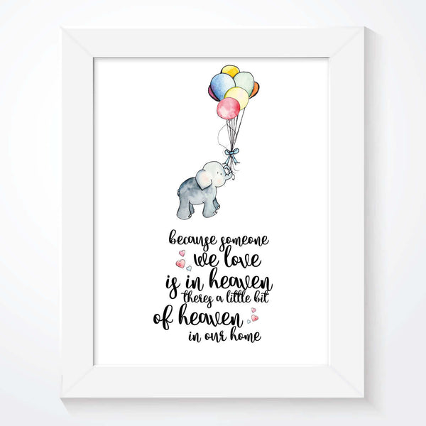 Miscarriage Bereavement Print - Because Someone We Love - Couture Moments