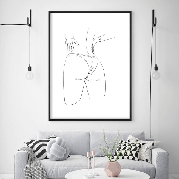 Female Line Art,, Body Line Art, Line Art Hands, Womens Body Line Art, Line Print, Line Art Print, Naked Female Body Line Print, Erotic Line Art Print, Bum Line Art