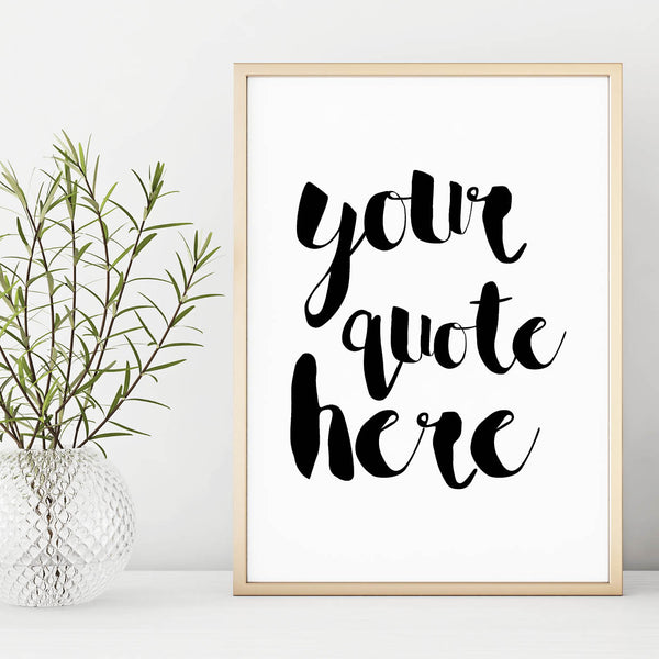 Personalised Print - Typography