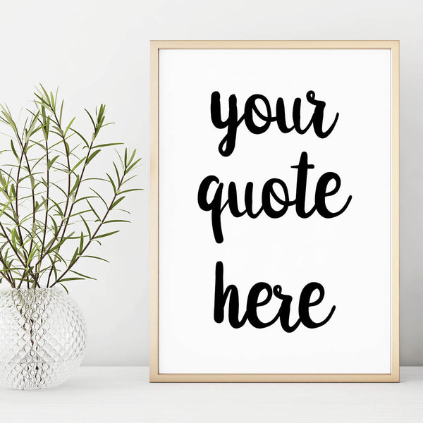 Personalised Quote Print - Typography