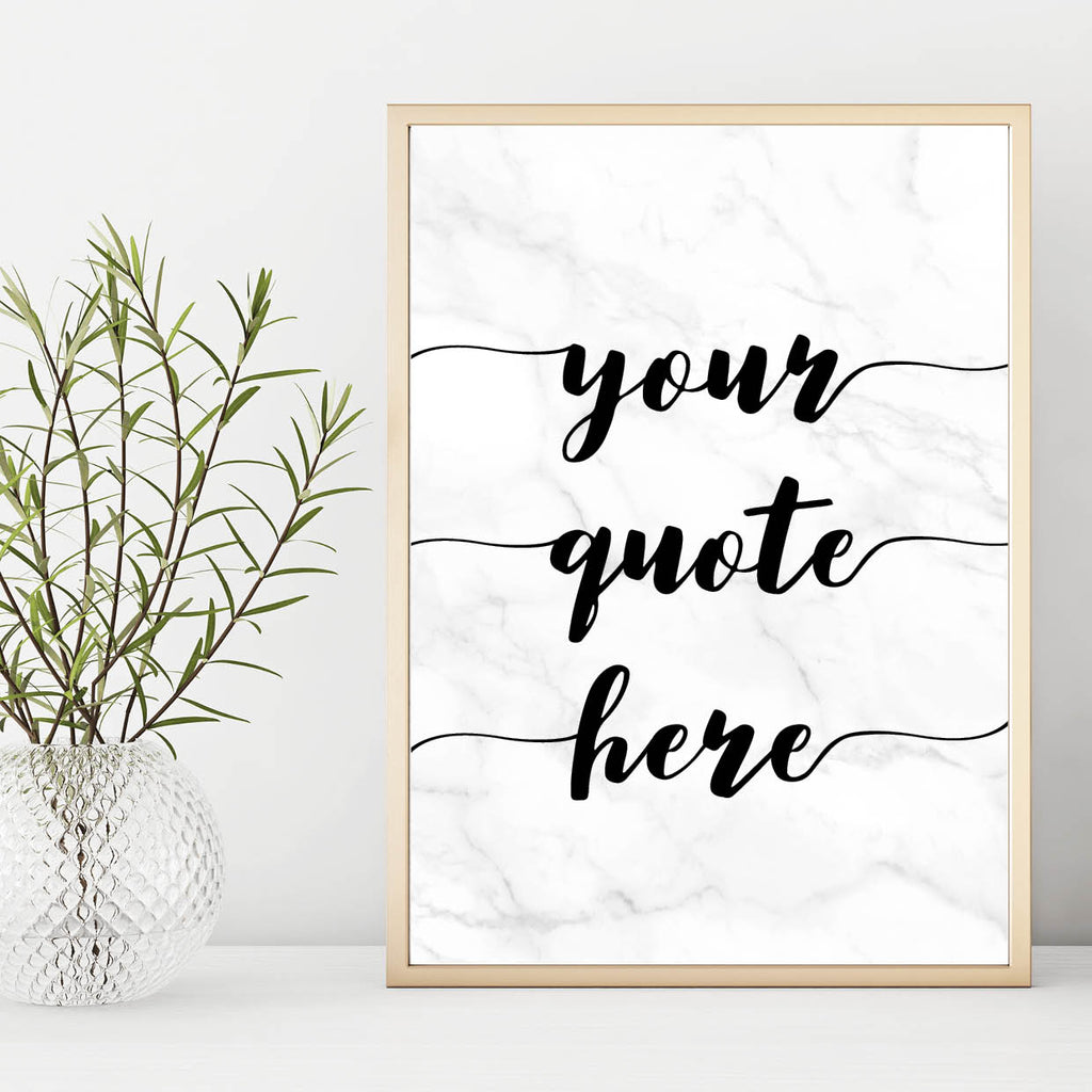 Personalised Marble Quote Print