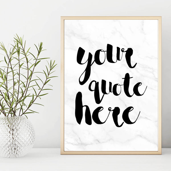 Custom Marble Wall Art Print