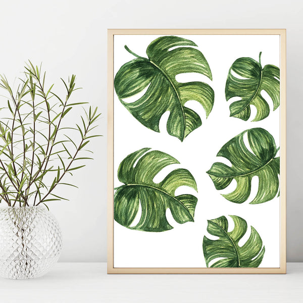 Monstera Botanical Leaf Print