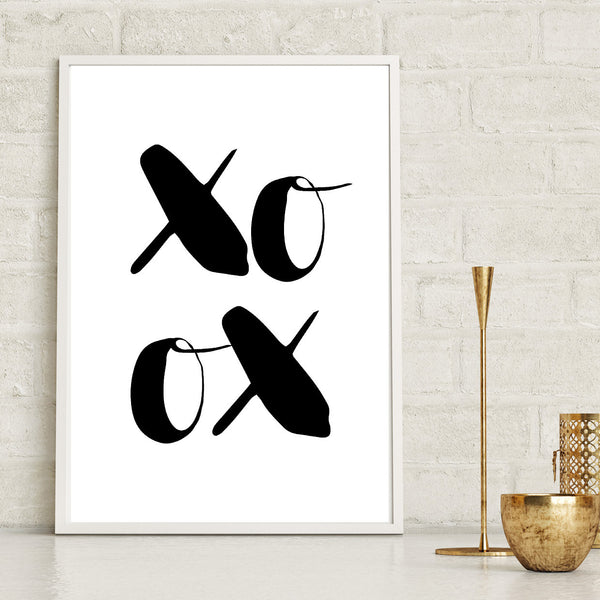 Monochrome XO Wall Art Print
