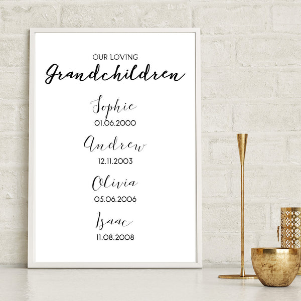 Grandparents Grandchildren Print