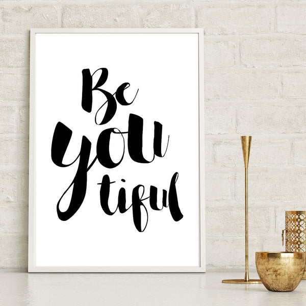 Beautiful Monochrome Quote Art Print
