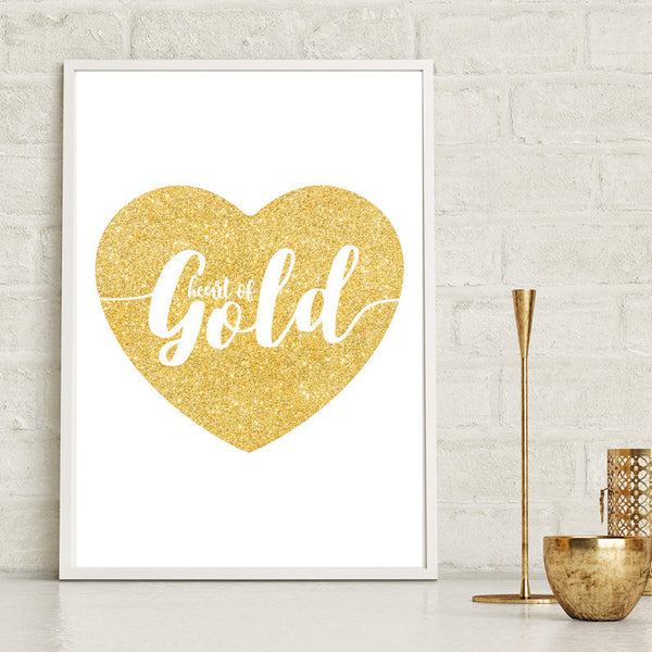 Heart of Gold Print - Couture Moments