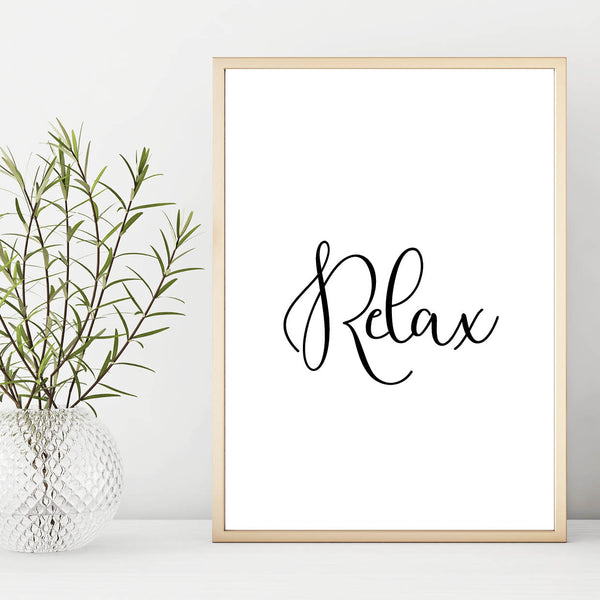 Relax Wall Print - Couture Moments