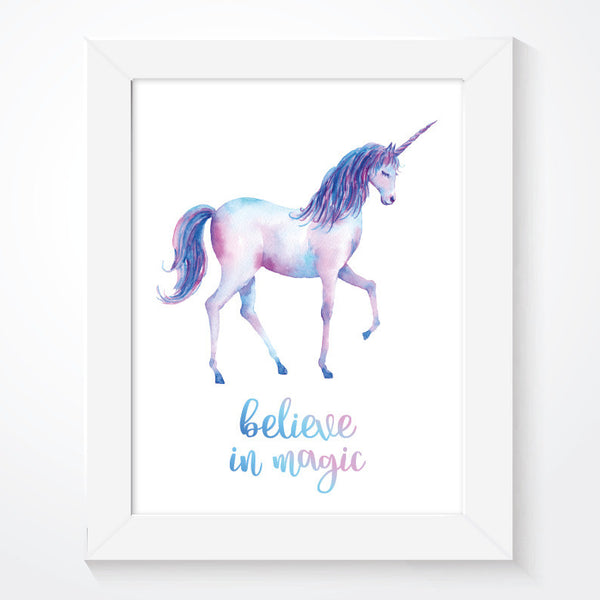 Unicorn Believe In Magic Girls Print