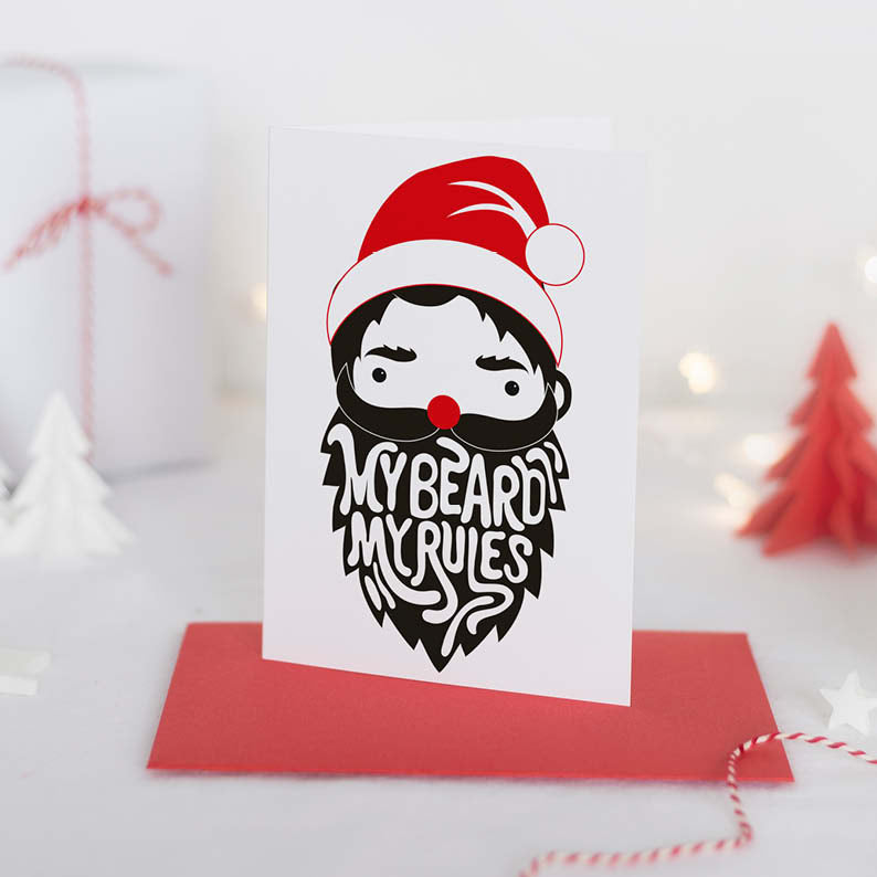 Funny For Him Personalised Christmas Card - Couture Moments