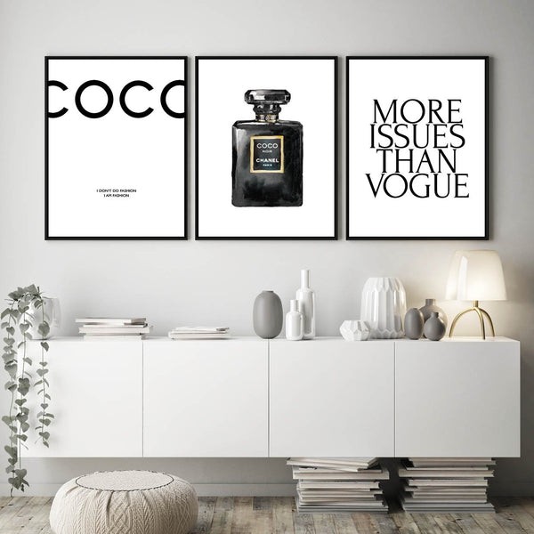 Chanel Print, Coco Chanel, Chanel Quote, Chanel Poster, Chanel Wall Art, Vogue Quote Print, Chanel Perfume Bottle, Vogue Poster