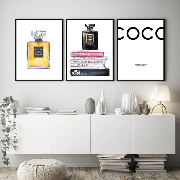 Chanel Print, Coco Chanel, Chanel Quote, Chanel Poster, Chanel Wall Art, Chanel Perfume Bottle