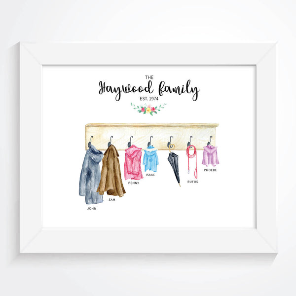 Personalised Family Coats Print - Couture Moments