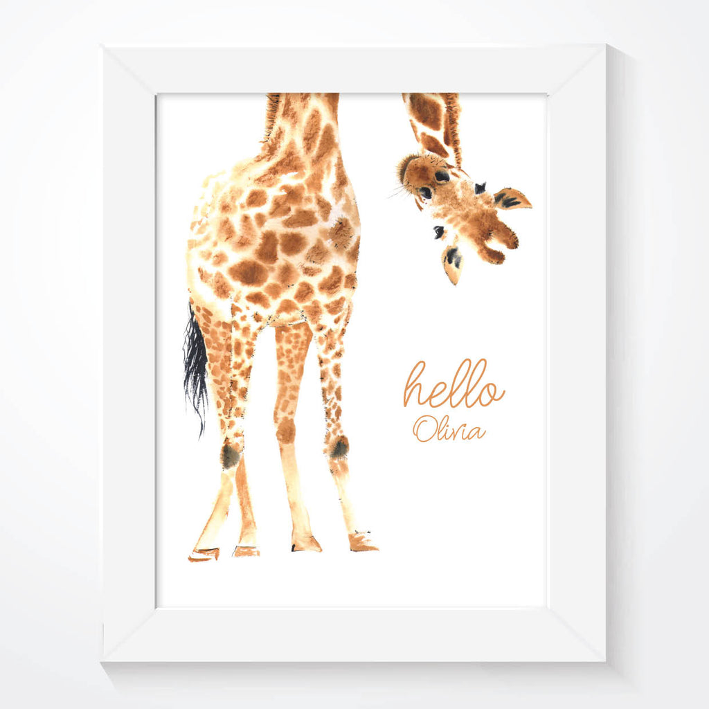 Giraffe Nursery Wall Art Print - Couture Moments