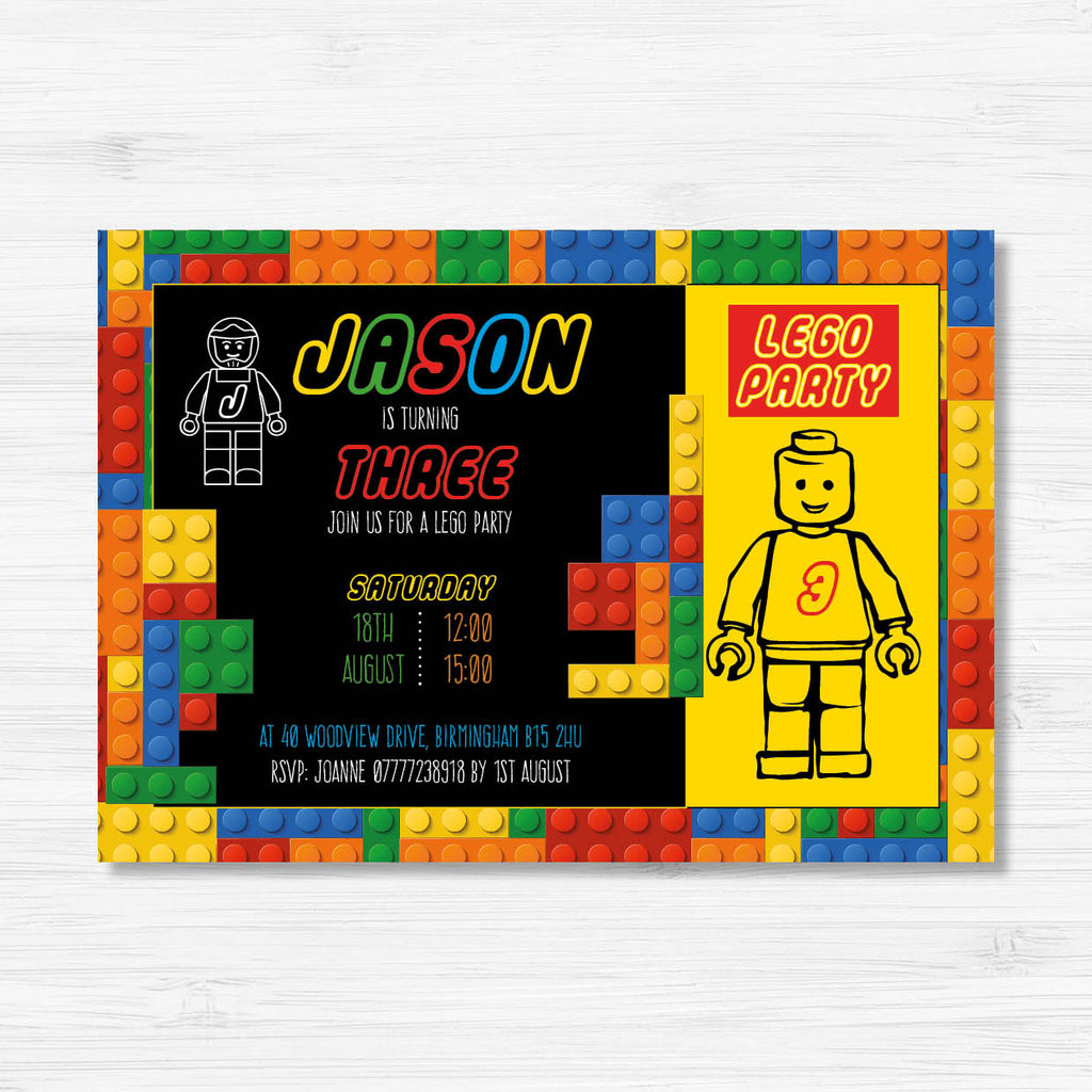 Digital Lego Birthday Invitation - Couture Moments