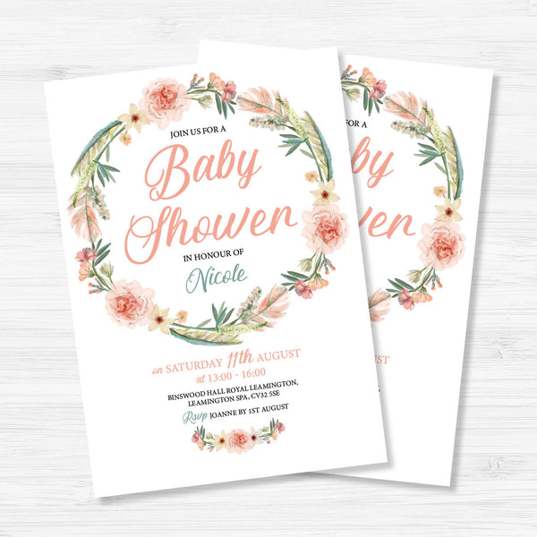 Boho Baby Shower Invitation